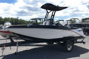 2017 SCARAB 195 OPEN BRP 250HO ROTAX T TOP W/ BIMINI AND TOW POLE DROP DOWN TAILGATE PUMP OUT HEAD COOLER LIVEWELL TRAILER. for sale