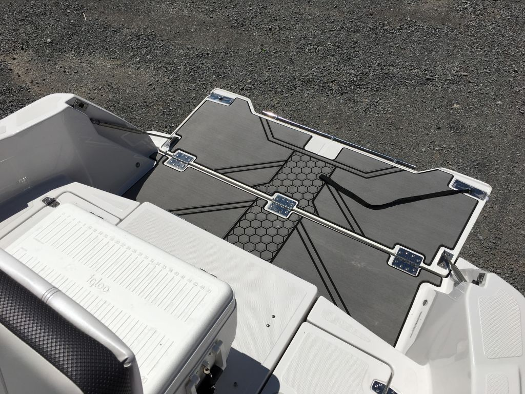 2017 Scarab boat for sale, model of the boat is 195 Open BRP 250HO Rotax T-top w/ bimini and tow pole drop down tailgate pump-out head cooler livewell trailer. & Image # 5 of 23