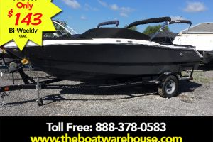 2017 FOUR WINNS H200 VOLVO V6 200HP TRAILER BIMINI TOP for sale