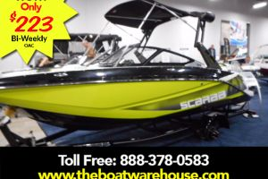 2017 SCARAB 195 HO IMPULSE BRP 250HO ROTAX WAKEBOARD TOWER W/ BIMINI BALLAST SYSTEM WAKEBOARD RACKS  COCKPIT & FORWARD COVER DIGITAL SPEED CONTROL TRAILER for sale