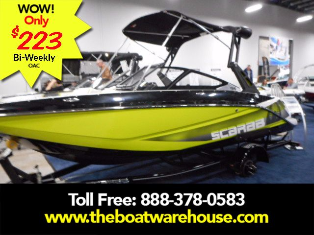 For Sale: 2017 Scarab 195 Ho Impulse Brp 250ho Rotax Wakeboard Tower W/ Bimini Ballast System Racks  Cockpit &amp; Forward Cover Digital Speed Control Trailer 18ft<br/>The Boat Warehouse - Kingston