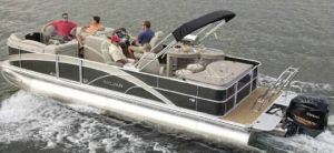 2013 Sylvan Mandalay 8525 Bar Boat Test Photo