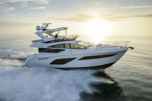 2017 Sea Ray L550 Fly Boat Test Photo