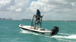 2018 Mako Pro Skiff 19 Top Drive Boat Test Photo