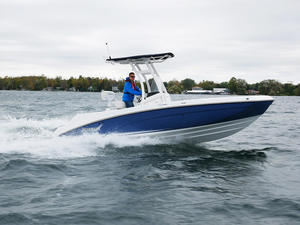 2018 Yamaha 210 FSH Boat Test Photo