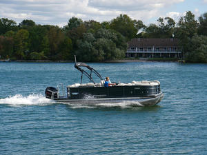 2018 Berkshire Pontoons STS 23 RFX Boat Test Photo