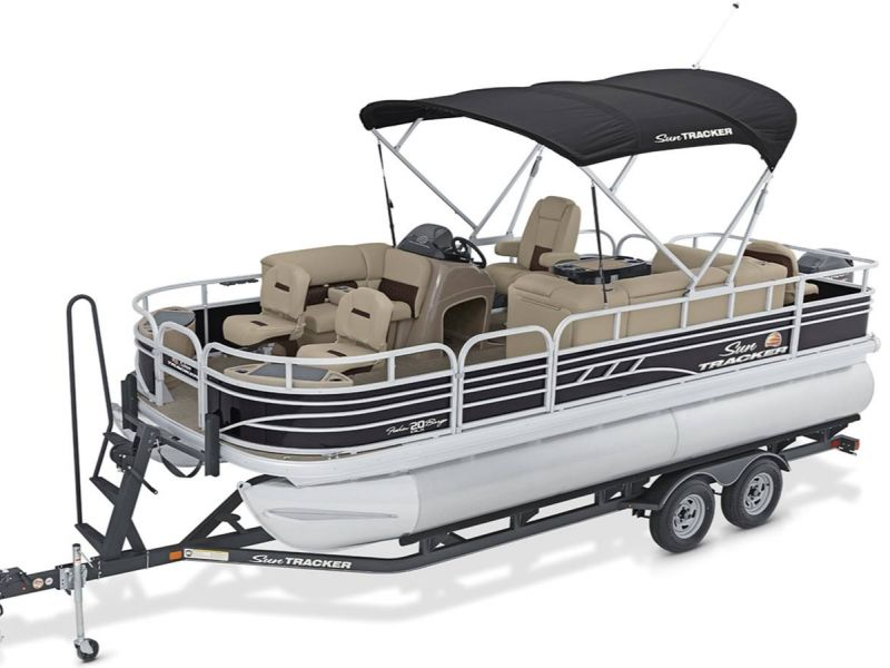 2021 Sun Tracker boat for sale, model of the boat is Party Barge 20 DLX & Image # 1 of 6