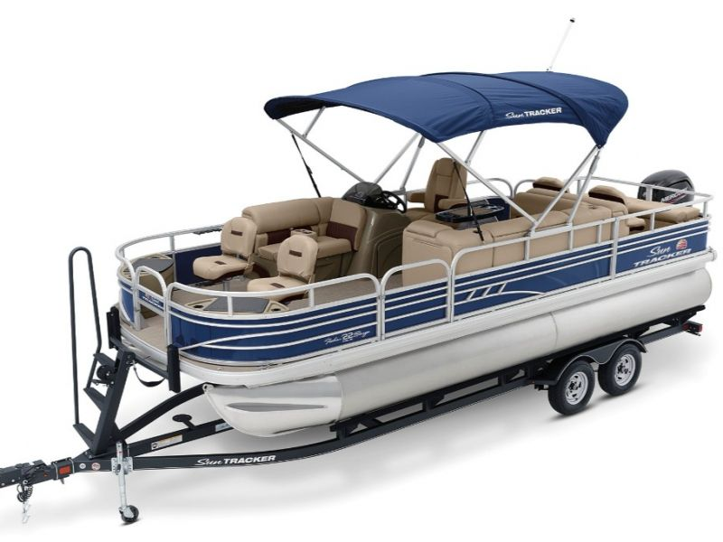 2021 Sun Tracker boat for sale, model of the boat is Fishin Barge 22 DLX & Image # 1 of 6