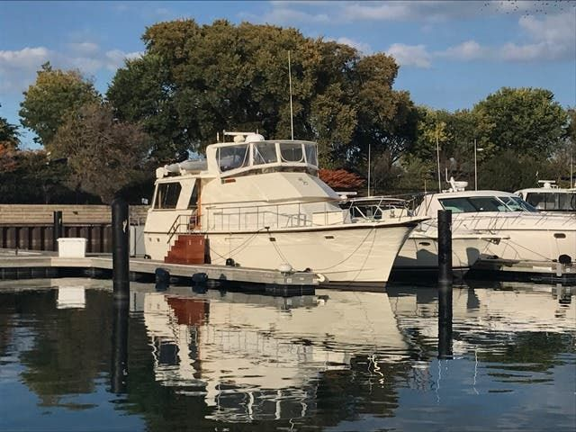 1983 Hatteras boat for sale, model of the boat is 48MY & Image # 2 of 71