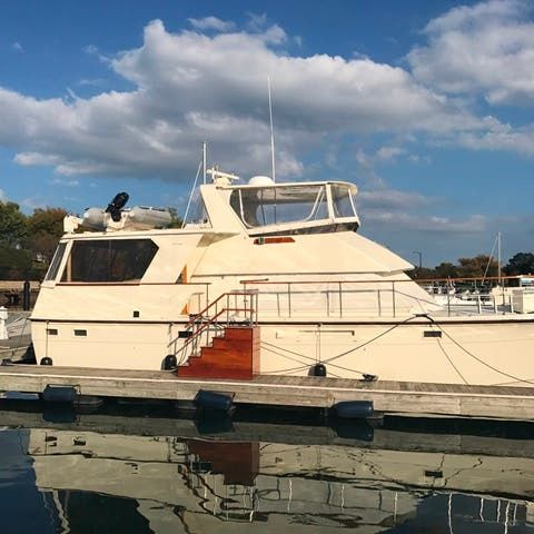 1983 Hatteras boat for sale, model of the boat is 48MY & Image # 1 of 71