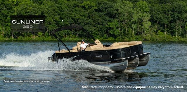2021 Harris boat for sale, model of the boat is 250Sun/SLDH/TT & Image # 1 of 8