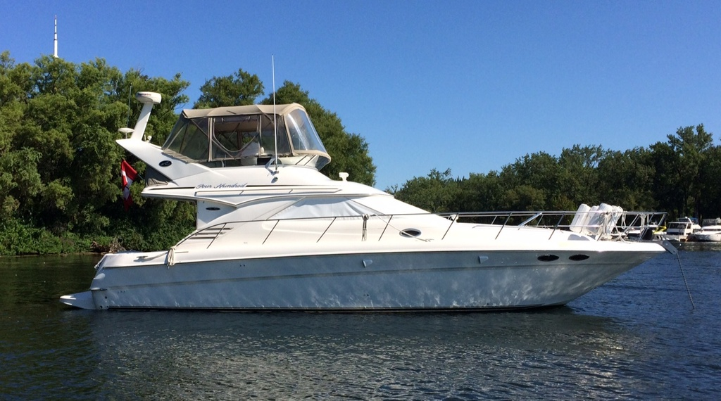 2001 Sea Ray boat for sale, model of the boat is 400 sedan bridge & Image # 1 of 1