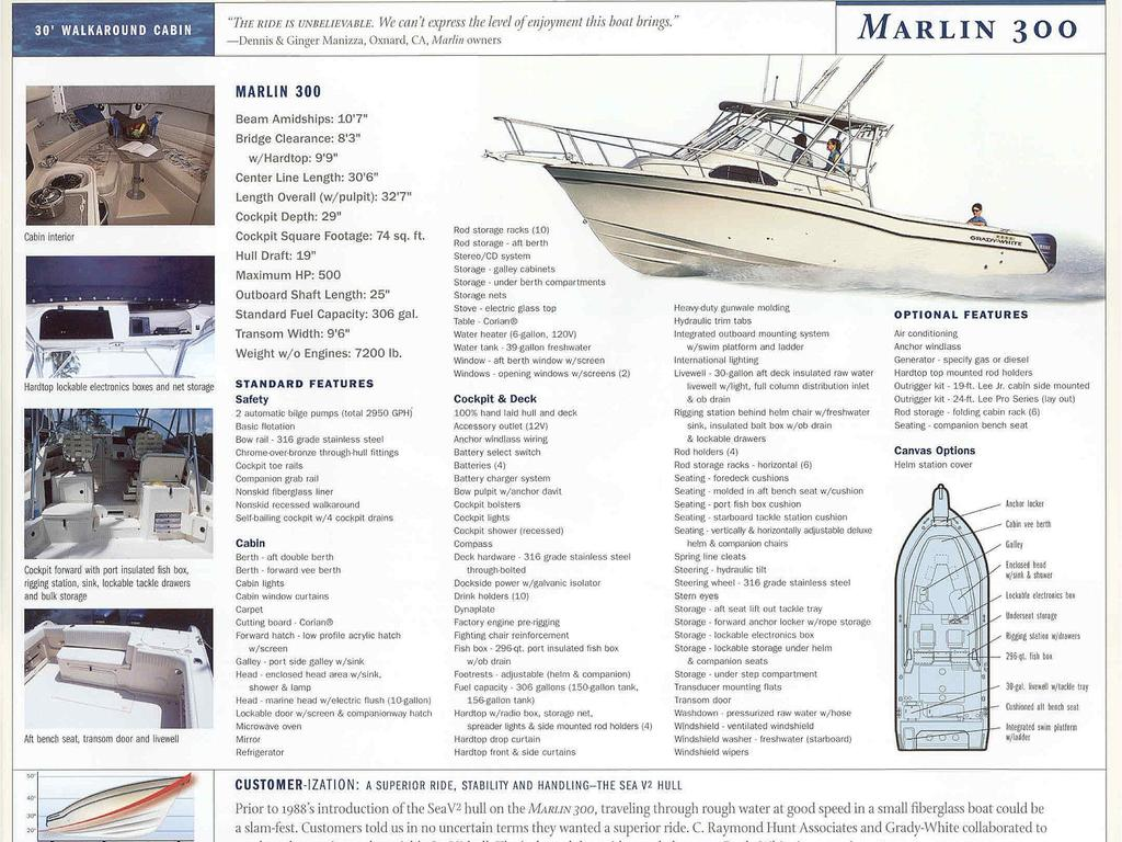 2003 Grady-White boat for sale, model of the boat is Marlin 300 & Image # 8 of 8