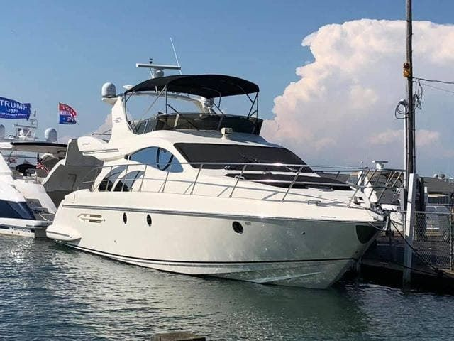 2005 Azimut boat for sale, model of the boat is 50FLY & Image # 1 of 17