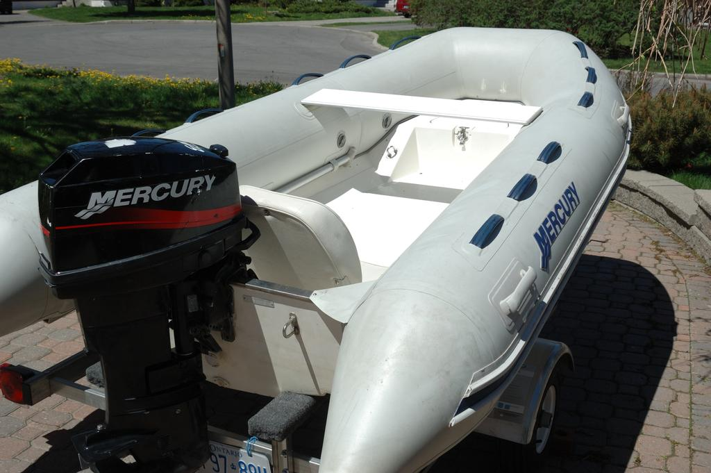 2007 Mercury Inflatables boat for sale, model of the boat is Ocean Runner 330 & Image # 2 of 7
