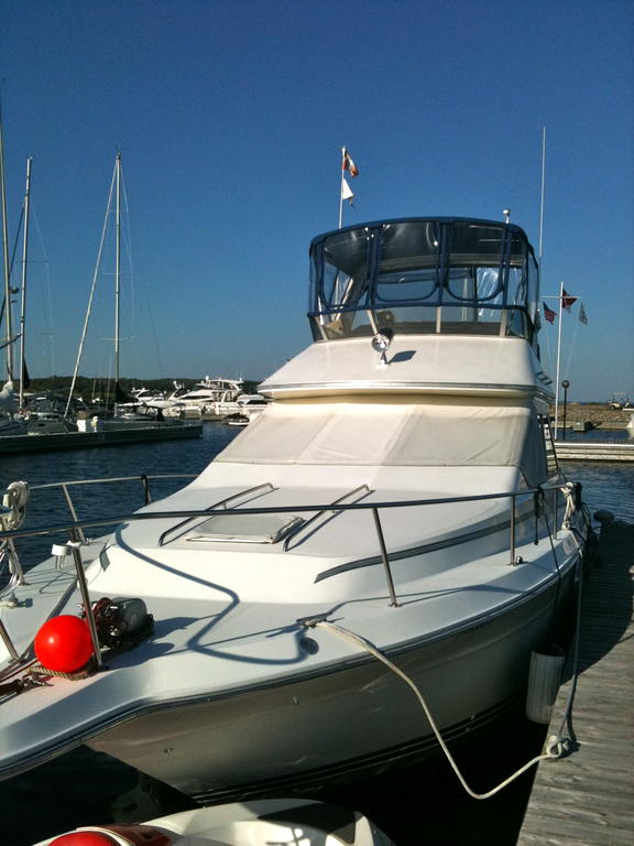 1989 Sea Ray boat for sale, model of the boat is 340 / 345 Sedan Bridge & Image # 14 of 52