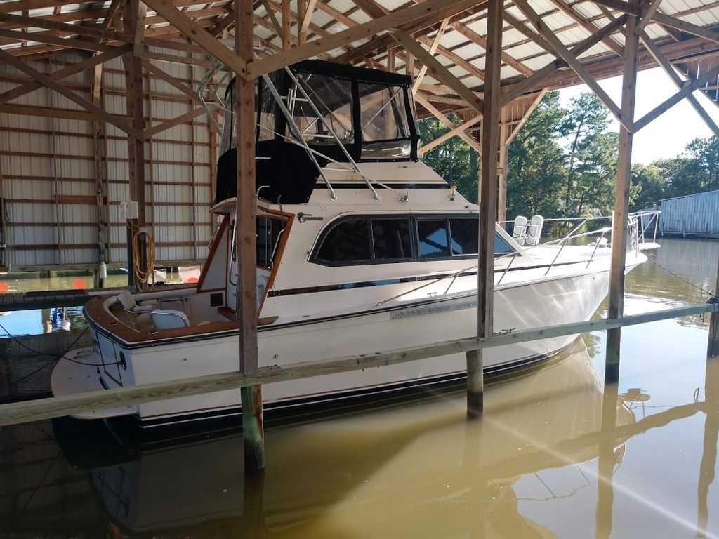 1989 Egg Harbor boat for sale, model of the boat is 37 Convertible & Image # 1 of 12